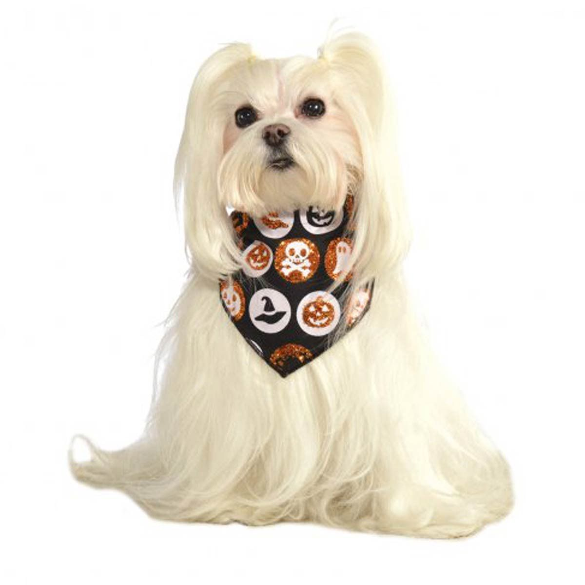 Glitter Halloween Dog Bandana