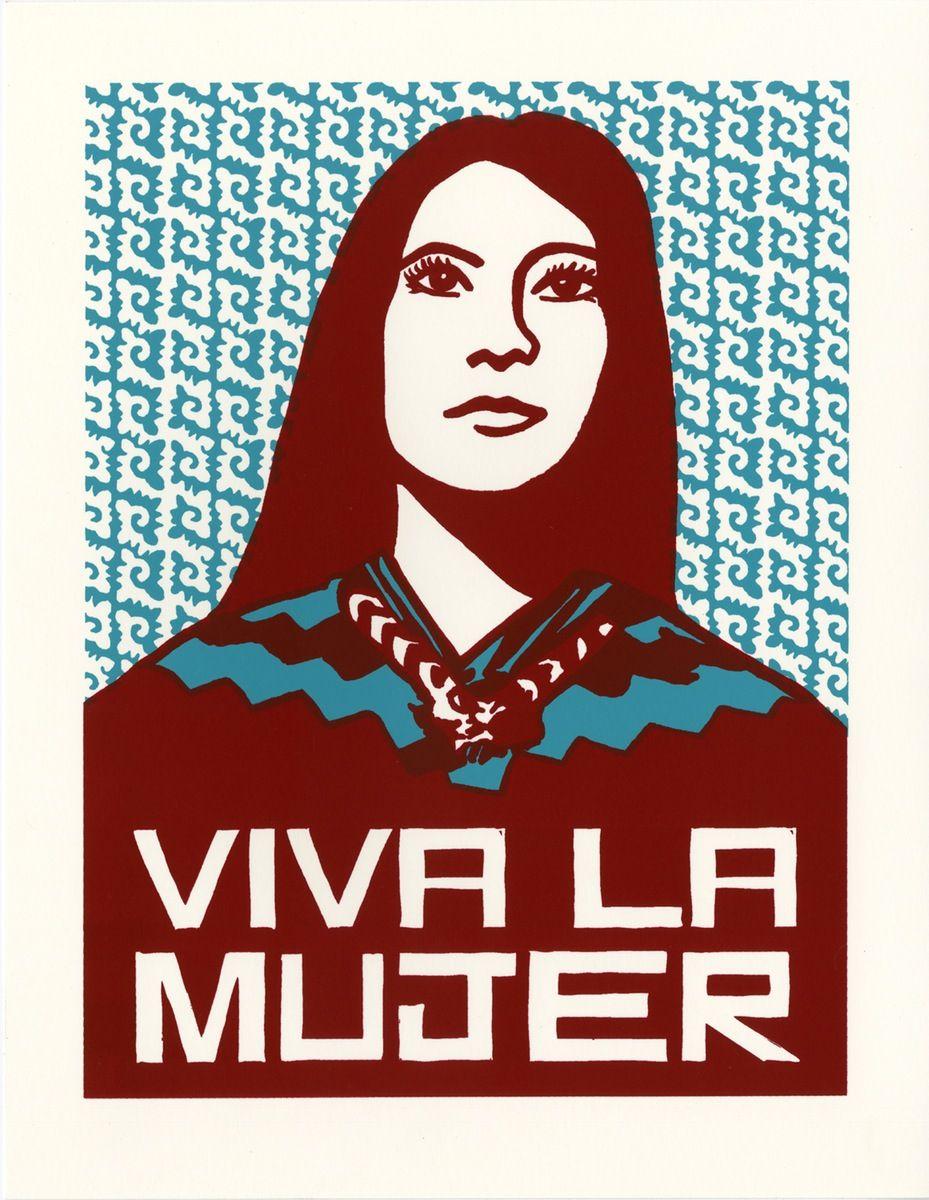 Viva La Mujer Small 2017 Latino Art Chicana Chicano