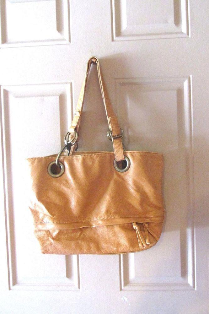 Braciano Faux Brown Leather Hobo Bag Purse
