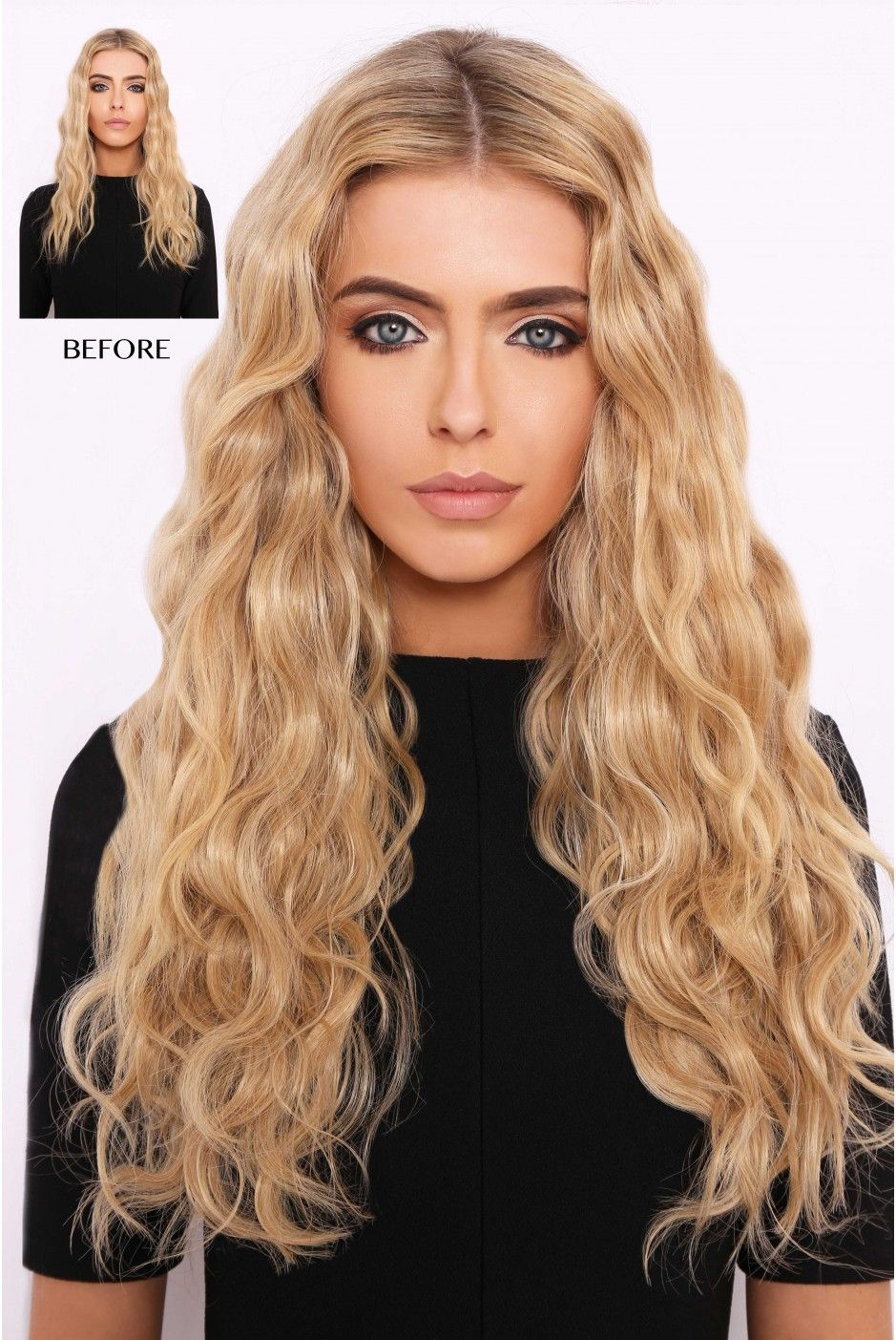 Super Thick 280g 5 Piece Beach Wavy Hair Extensions Hair