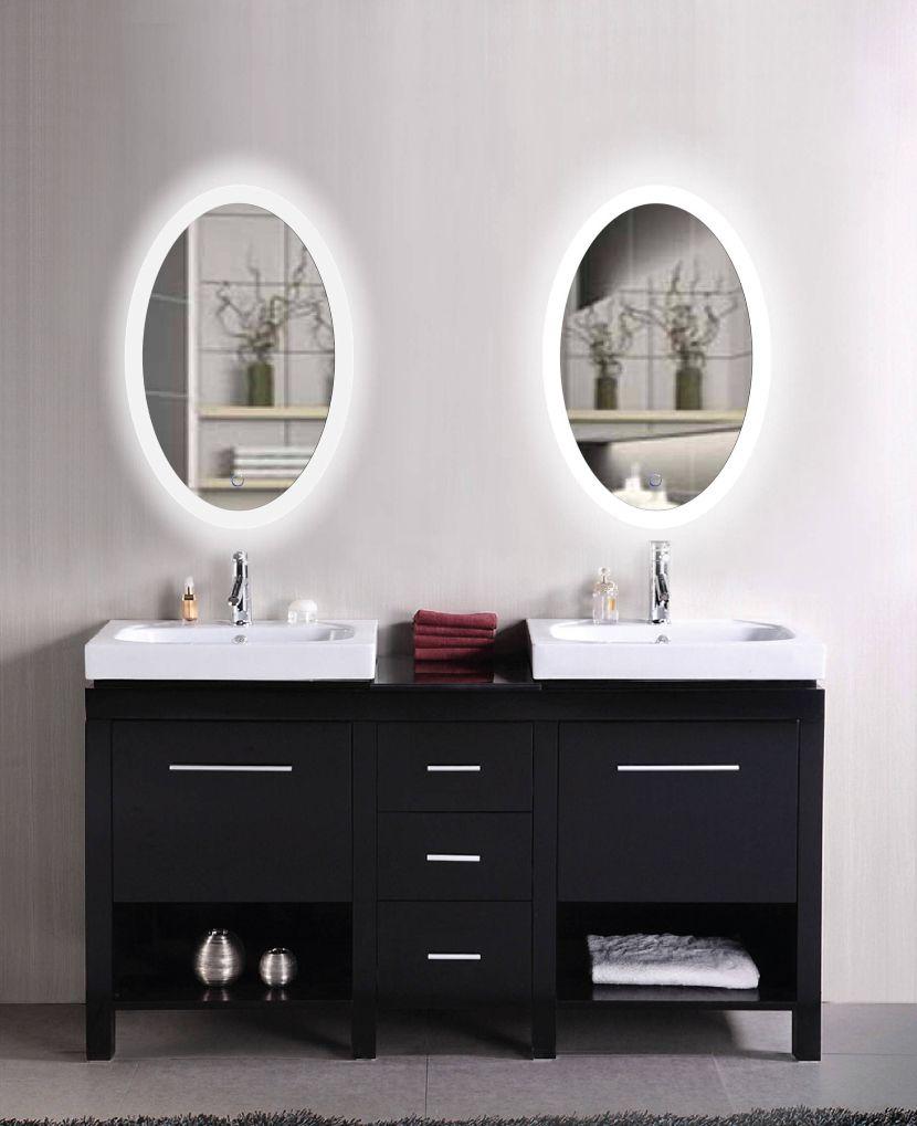 LED mirrors for the bathroom | Illuminated Backlit LED Round ...