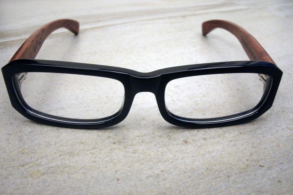ff06eea4bb Hecho A Mano De Madera Gafas Marcos de estilo vintage y retro estilo hecha  en Japón 7111D Slim | eBay