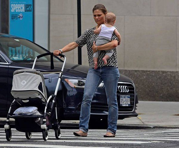 Crown Princess Victoria with Prince Oscar in New York