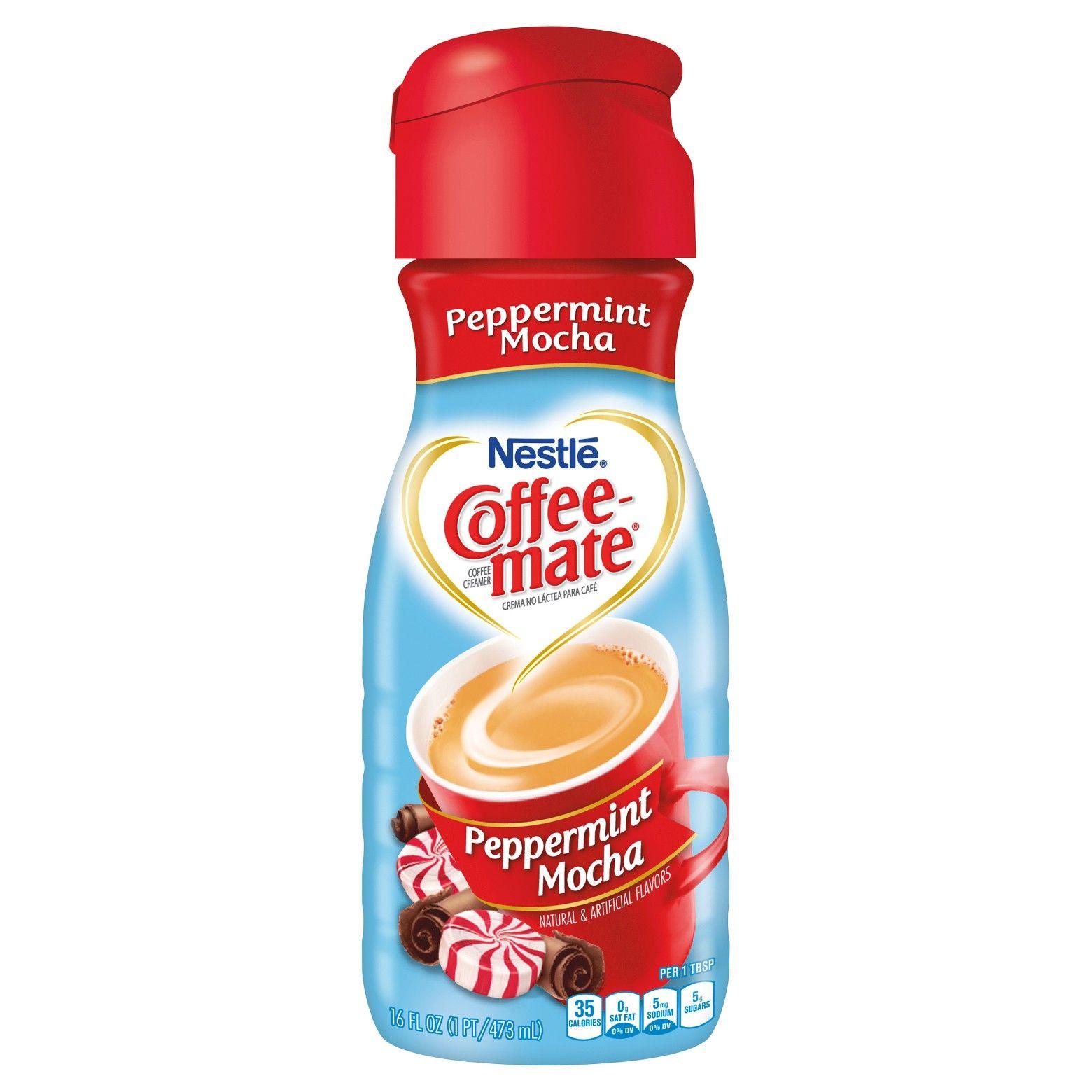 Coffee mate peppermint mocha coffee creamer 1pt nestle