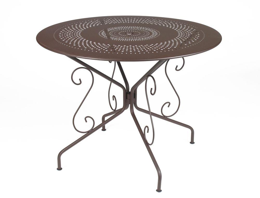 Mobilier Montmartre : #Table Ø 96 cm de #jardin | ROUILLE ...