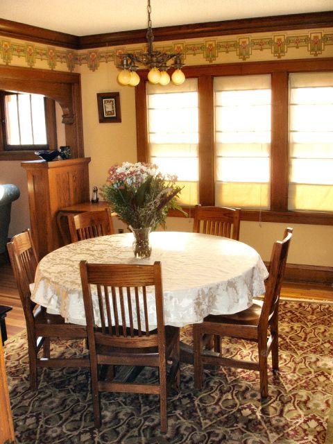 1925 Craftsman Style Bungalow Dining Room With Bradburybradbury Frieze