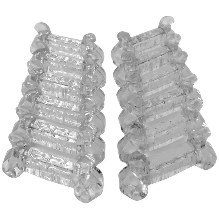 Baccarat French Crystal Knife Rests