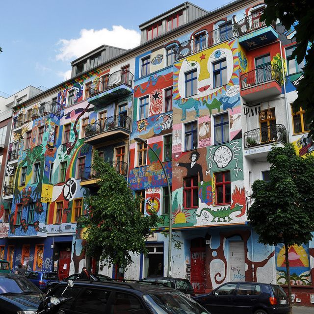 One of many art inspired buildings in Berlin #travel