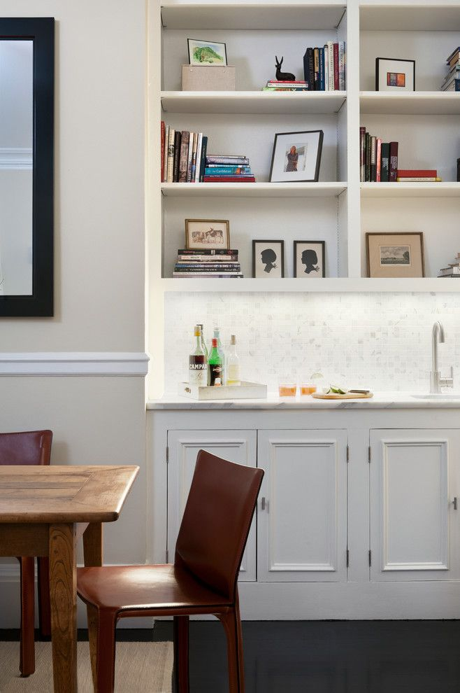 Dining room alcove ideas dining room transitional with white ...