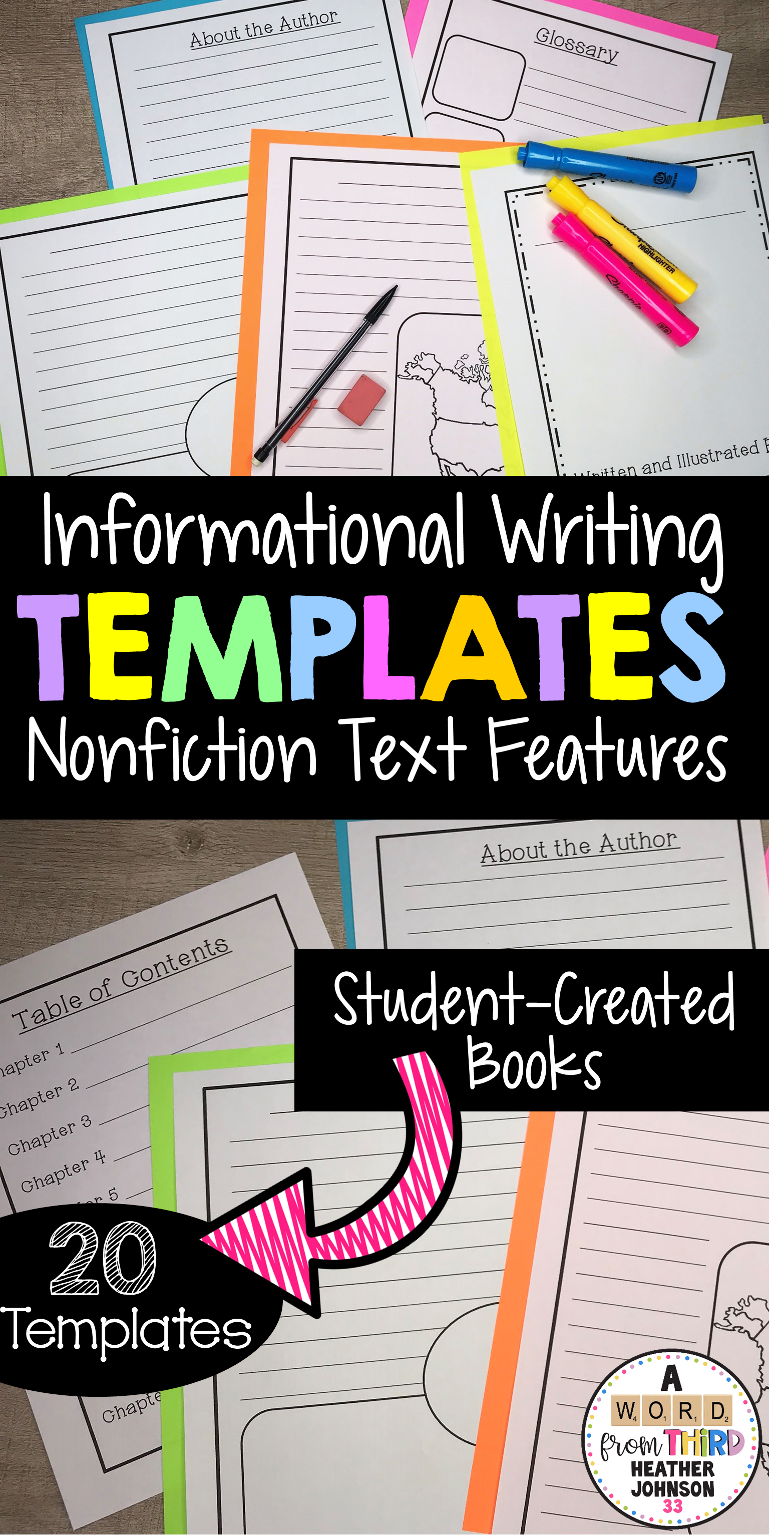 Informational Writing Templates Including Nonfiction Text