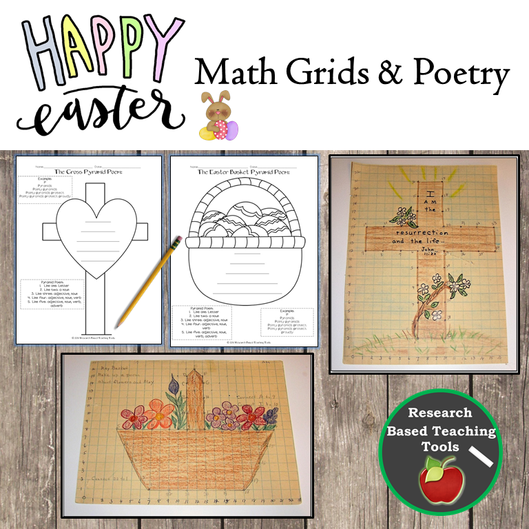 Easter Math Grids & Poetry Activities | Easter Time | Poetry