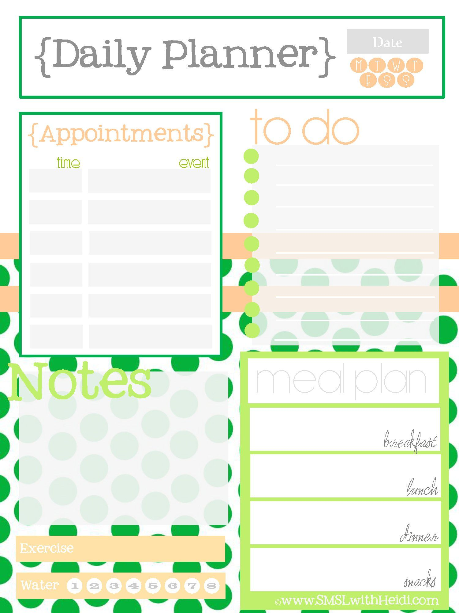 daily and weekly planner