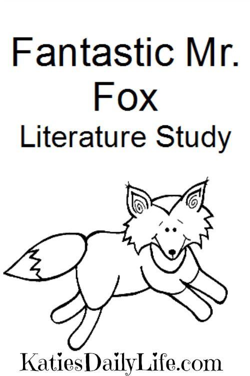 Free Fantastic Mr Fox Study Book Study Activities Fantastic Mr Fox Book Study