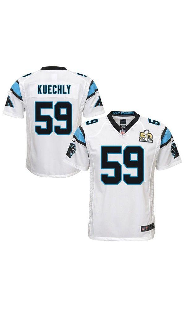 NFL Youth Carolina Panthers Luke Kuechly White Super Bowl ...
