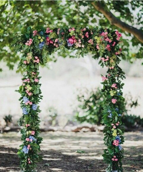 This floral arch I made survived a 43 degree day at the beautiful Euroa Butter Factory