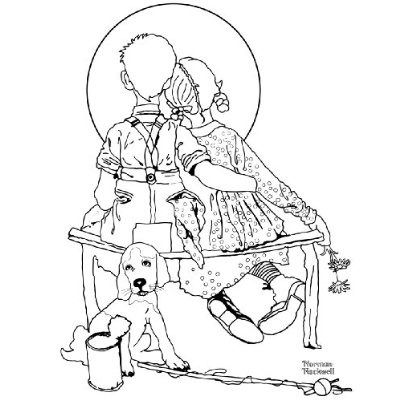 norman rockwell coloring pages - photo#11