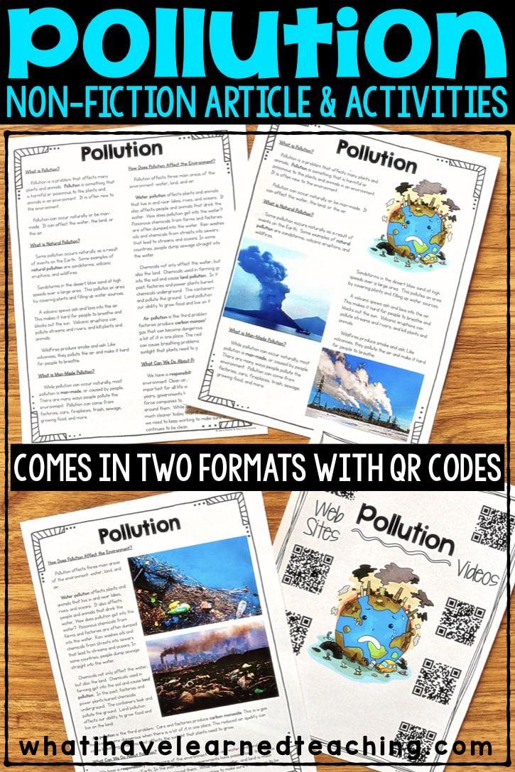 Pollution Nonfiction Article Comprehension Activities Comprehension Activities Nonfiction Articles Pollution Lesson [ 1088 x 725 Pixel ]