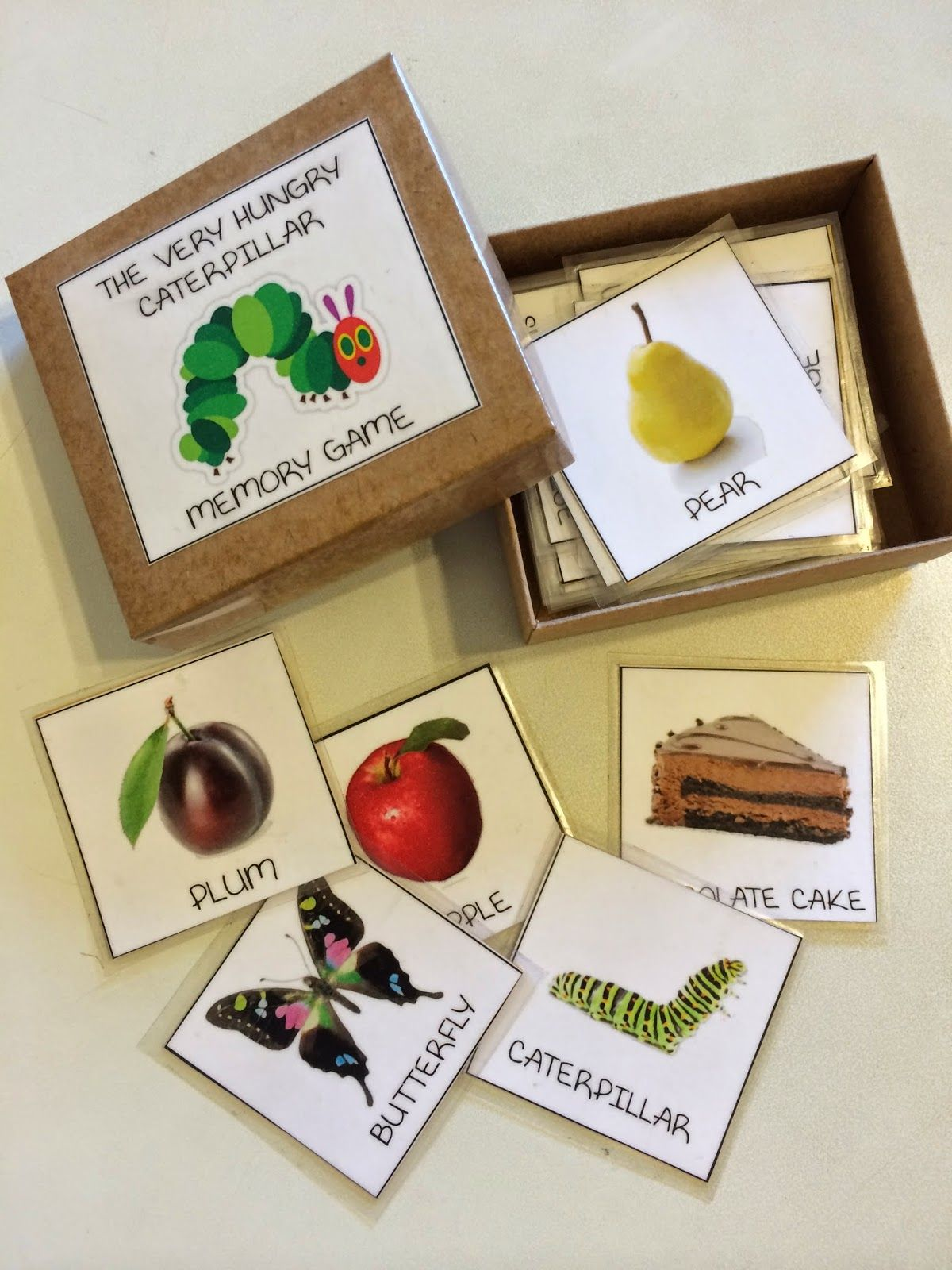 Printable The Very Hungry Caterpillar Memory Game It S Playtime