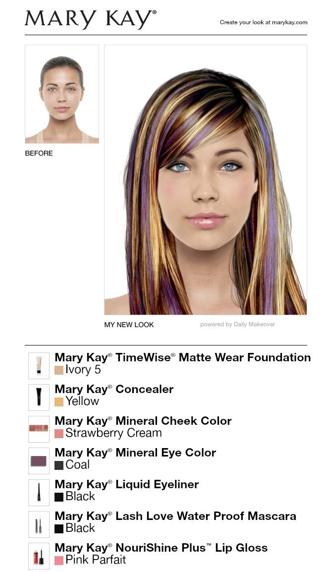 Virtual Makeover Brown With Blonde Highlights Cool Hair Color Virtual Makeover