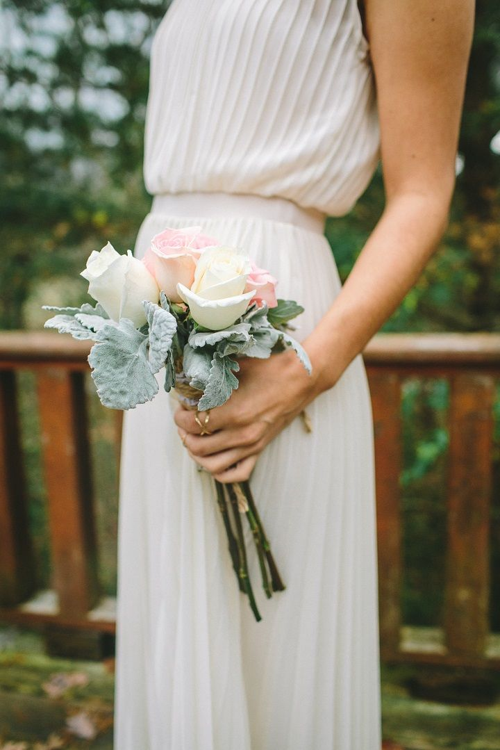 white bridesmaid dress + Light pink and white wdding bouquets for a classic winter wedding in January | fabmood.com #winterwedding #winterbouquets