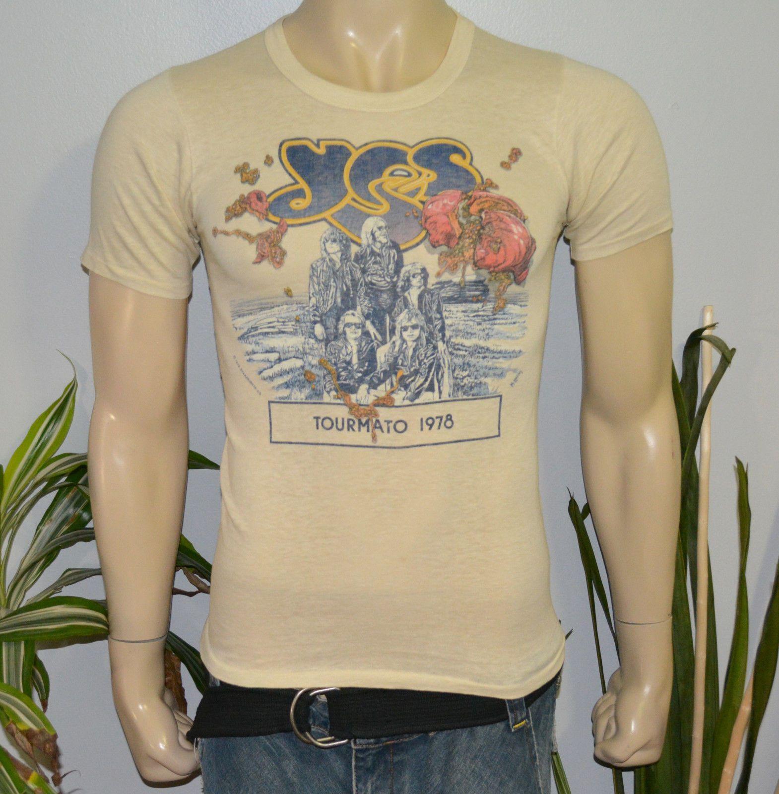 Rare 1978 Yes Vintage Rock Band Concert Tour T Shirt S M 70s Jon Anderson