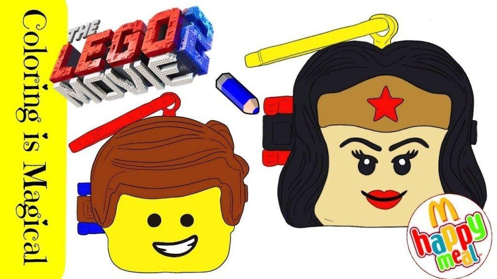 Wonder Woman & Emmet Lego Happy Meal Coloring | Emmet lego ...
