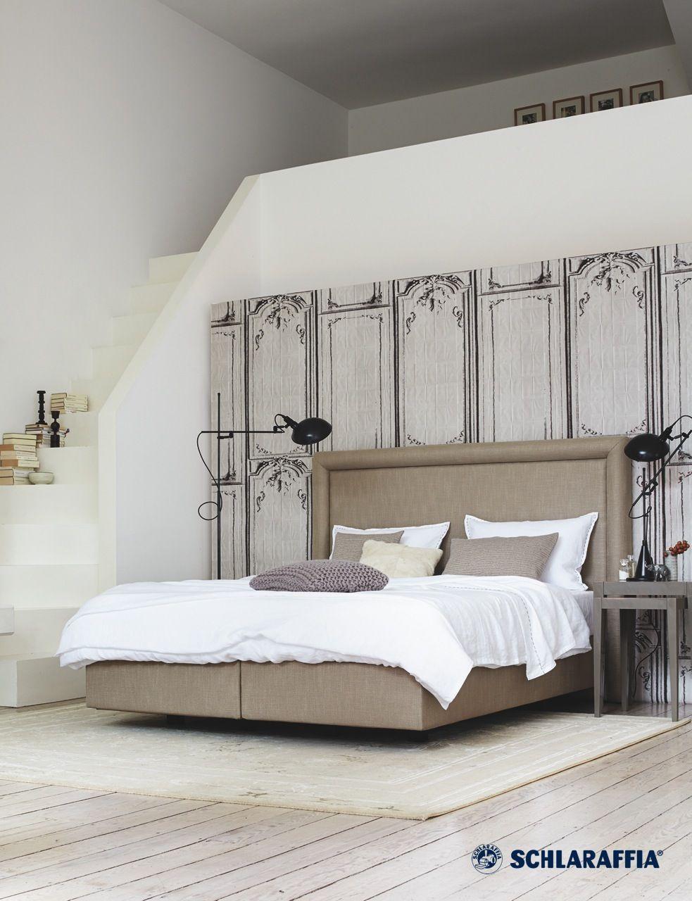 boxspring bett otello von schlaraffia betthaupt mit markantem rahmenprofil ganz nach den. Black Bedroom Furniture Sets. Home Design Ideas