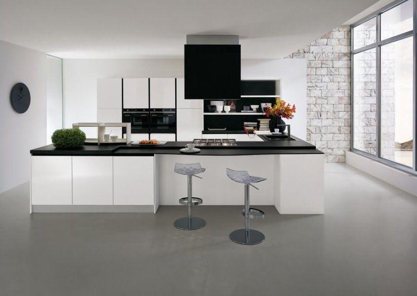 Extraordinaire cuisine blanche et noire | Cuisine moderne, Cuisine moderne ZH-56