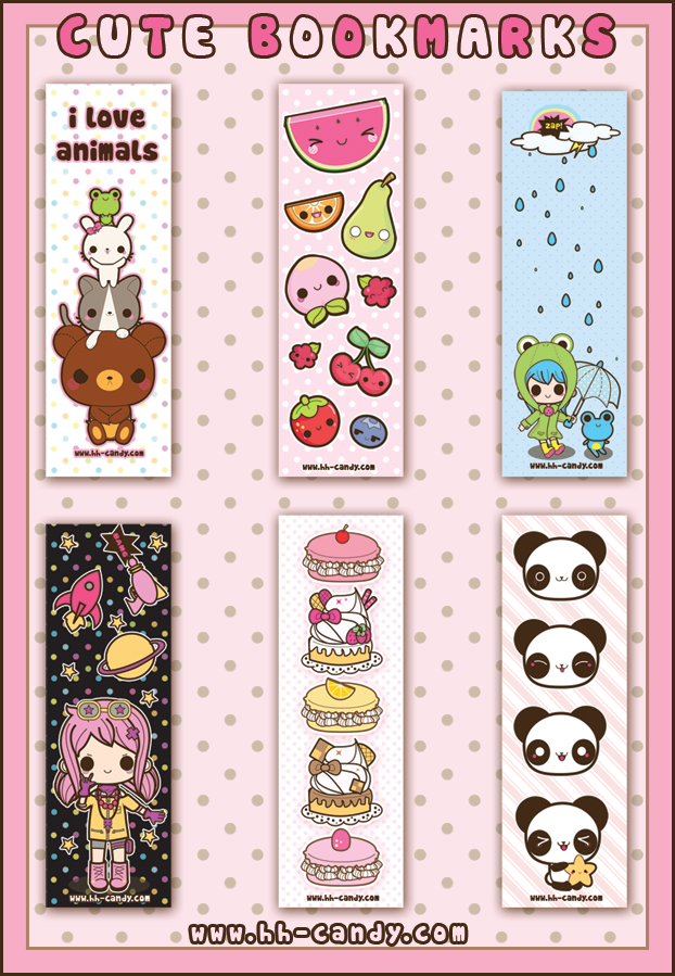 cute bookmarks designs 2 by a little kitty on deviantart
