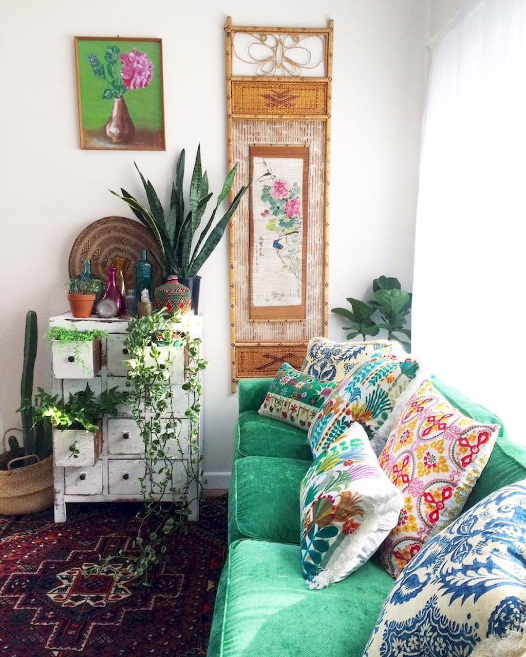 88 beautiful apartment living room decor ideas with boho - Boho chic living room decorating ideas ...