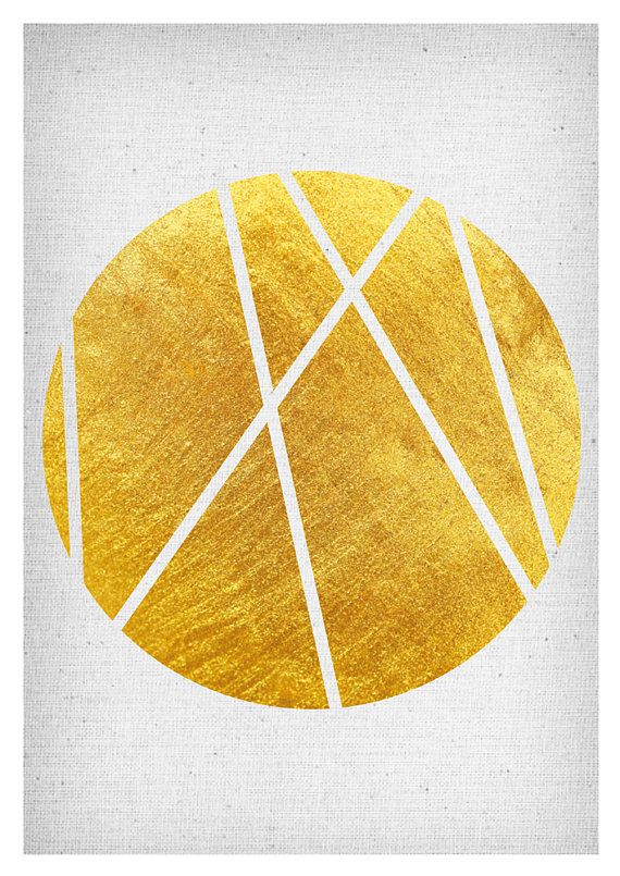 Gold Wall Art Rose Gold Print Geometrical Print scandinavian print ...