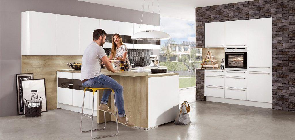 Fashion Laque Blanc Alpin Mat Cuisine Design Moderne Cuisine Moderne Idee Cuisine