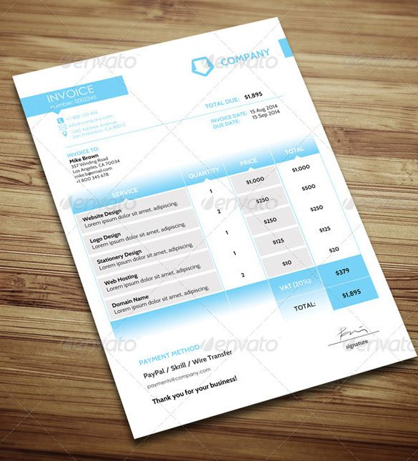 Simple Invoice Template Microsoft Word , Invoice Template for Mac - Free Invoices Templates Online