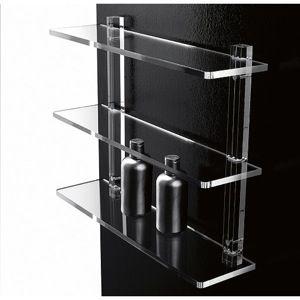 Bathroom Shelf 16 Inch Triple Tier Plexiglass Bathroom Shelf 601/40  Toscanaluce 601/40