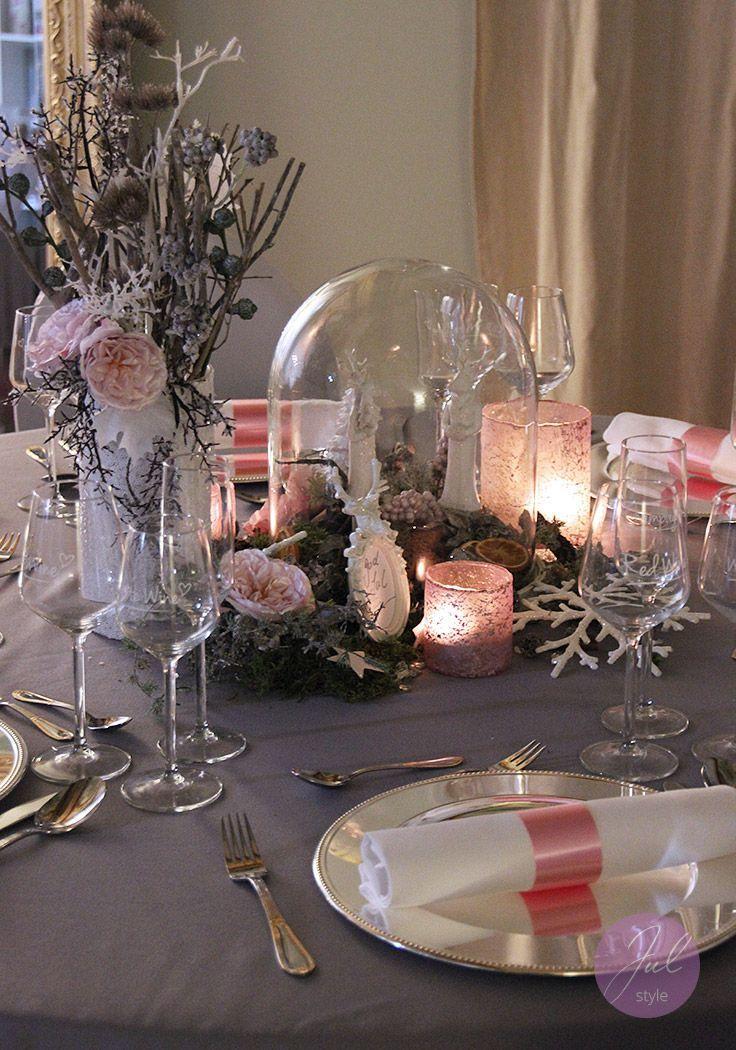 exklusive verleih weihnachtsdeko mit glas gloche und hirschen weihnachtsdeko. Black Bedroom Furniture Sets. Home Design Ideas