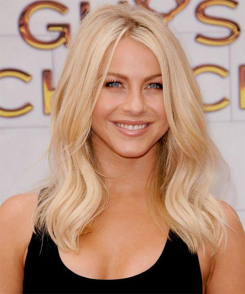 Julianne Hough Long Straight Light Platinum Blonde Hairstyle Champagne Blonde Hair Blonde Haircuts Julianne Hough Hair Color