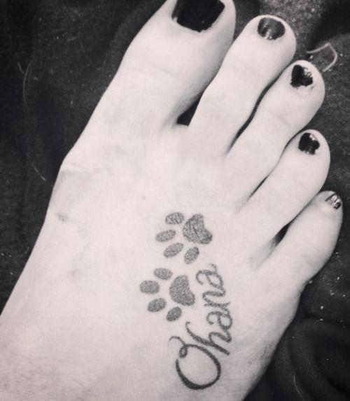 Memorial Tattoo Infinity Paw Print: Ohana Tattoo, Tattoos