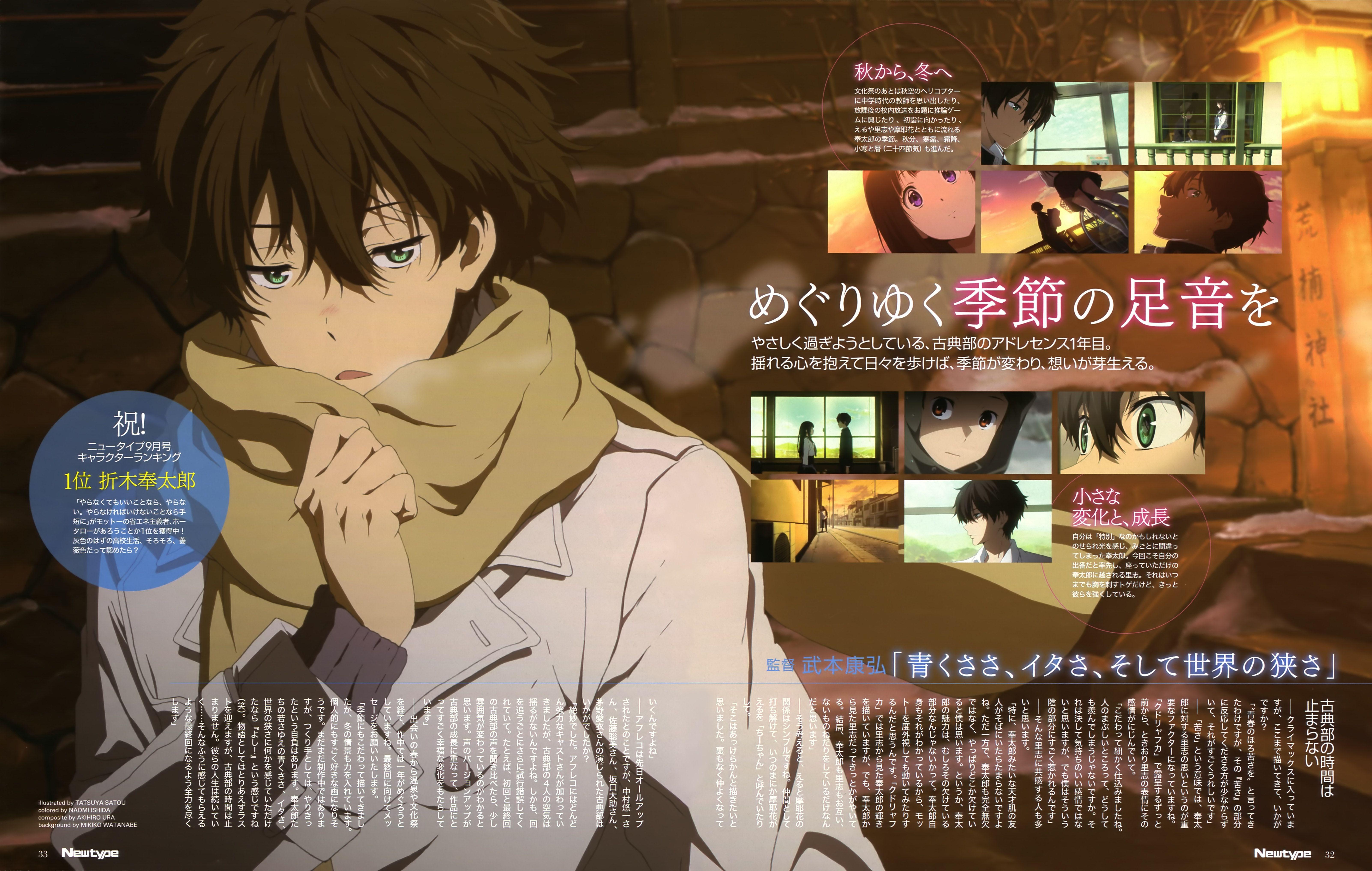 Hyouka Kyoto Animation Yonezawa Honobu 京都アニメーション