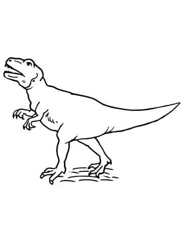 Allosaurus Theropod Dinosaur coloring page from Allosaurus