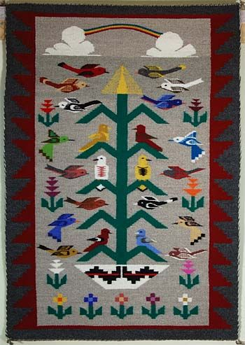 Tree Of Life Pictorial Rug By Latonya Begay Navajo Rugs