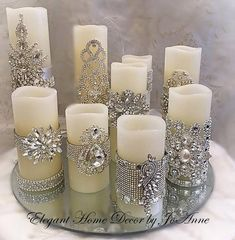 Candle Set, Flickering LED Wax PILLAR CANDLE set,