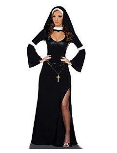 Costume Masked árabe preto da bruxa das mulheres de