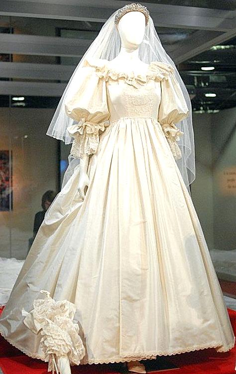 vestido de novia de la princesa diana de gales. - princess diana of