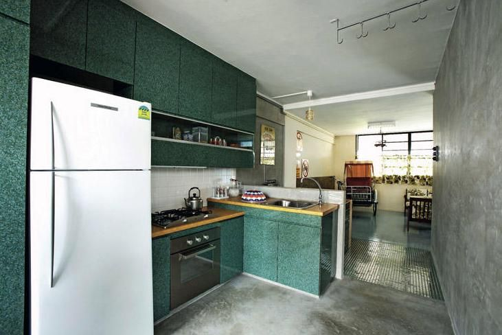 Very Typical Hdb Kitchen And Cabinet For The Vintage Singaporean