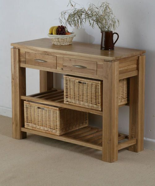 Galway Solid Oak Funiture Range Oak Console Table with Storage