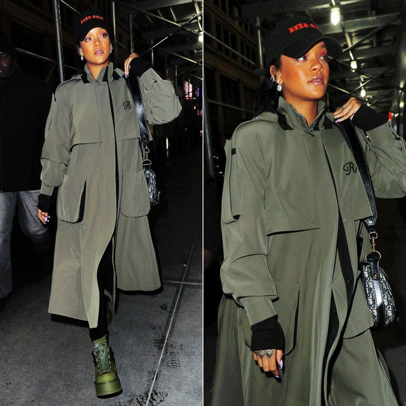 Rihanna Wears Ulyana Sergeenko Coat in NYC  e8471c5a3