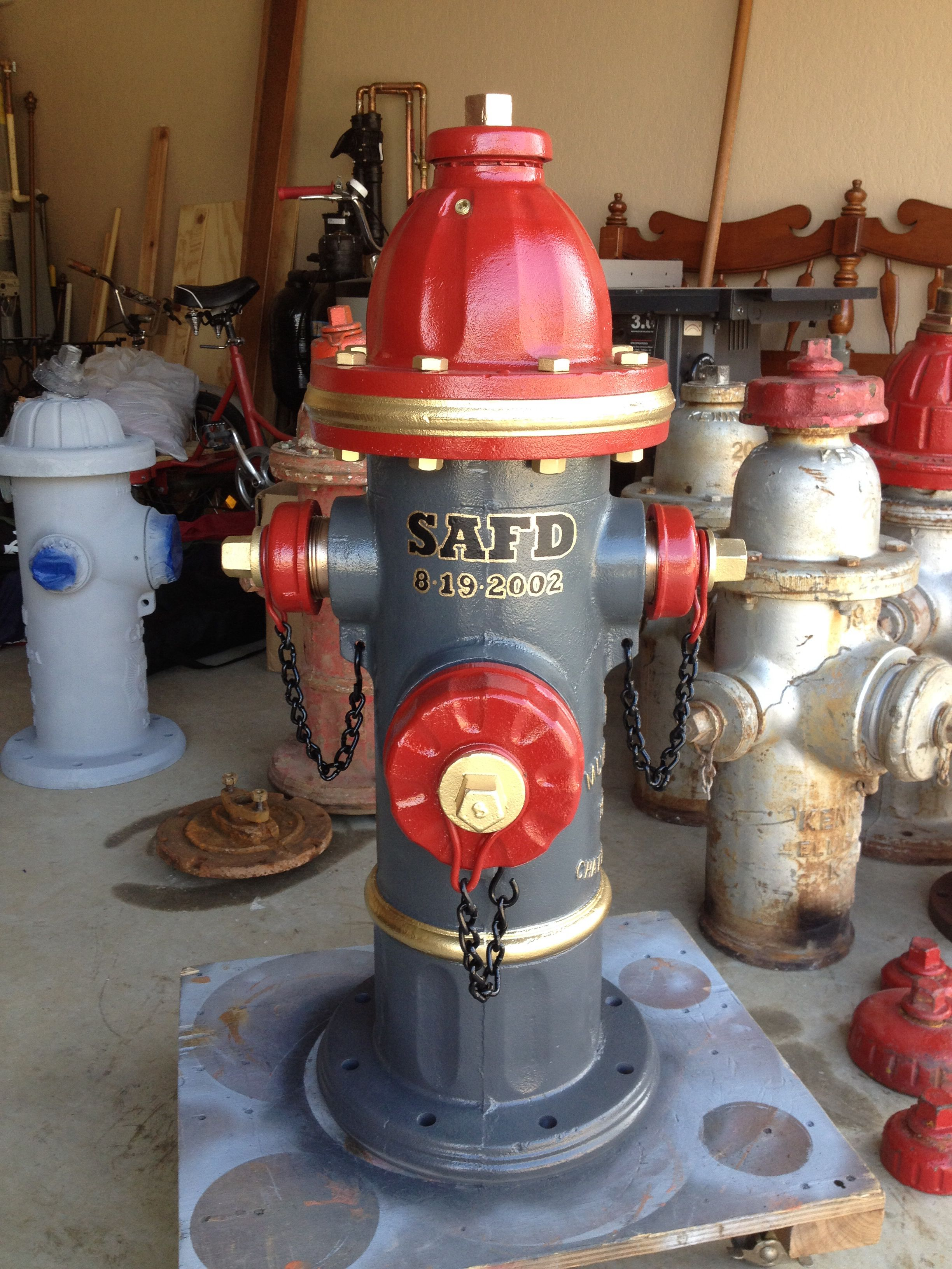 Hydrant for coworker NuHydrant  Fire dept decor, Fire hydrant