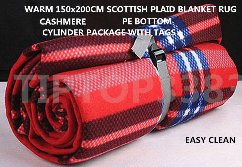 Warm 150x200 Scottish Tartan Plaid Blankets Car Pet Rug Travel Babycrawling Mat New