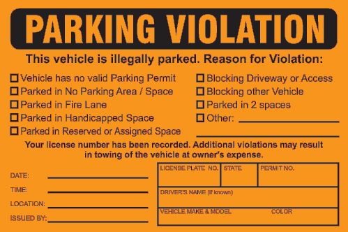 Prank Jokes FAKE TICKET FUNNY lol 25 Bad Parking Business Cards Gag Gift