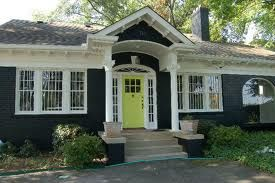Lime Green Front Door Dark Gray House Paint White Trim